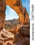 hickman natural bridge  capitol ... | Shutterstock . vector #728774689