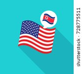 north korea and us flags vector ... | Shutterstock .eps vector #728775511