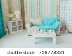 marine interior. white sofa and ... | Shutterstock . vector #728778331