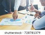 business teamwork discussing...   Shutterstock . vector #728781379