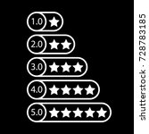 white star rating. rate system. ...