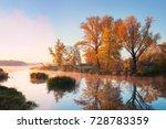 autumn morning | Shutterstock . vector #728783359