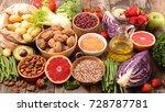 assorted health food | Shutterstock . vector #728787781