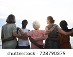 rear view of diverse senior... | Shutterstock . vector #728790379