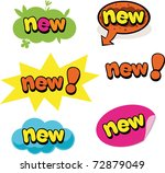 label and bubbles with news | Shutterstock .eps vector #72879049
