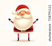 santa claus. vector... | Shutterstock .eps vector #728791111