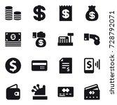16 vector icon set   coin stack ... | Shutterstock .eps vector #728792071
