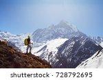 girl on the background of... | Shutterstock . vector #728792695