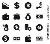 16 vector icon set   crisis ... | Shutterstock .eps vector #728798014