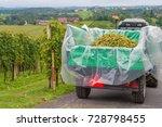 Tractor Backside Full Of Grape...