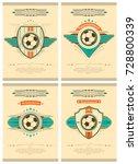 set of football poster in retro ... | Shutterstock .eps vector #728800339