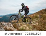 extreme sports. mountain bike.... | Shutterstock . vector #728801524