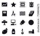 16 vector icon set   statistic  ... | Shutterstock .eps vector #728804671