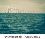 wind turbines generator farm... | Shutterstock . vector #728805511