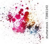 color splatter on white... | Shutterstock . vector #72881143