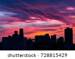 city silhouette against the sky ... | Shutterstock . vector #728815429