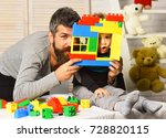 family and childhood concept.... | Shutterstock . vector #728820115