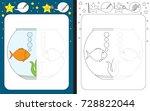 preschool worksheet for...   Shutterstock .eps vector #728822044