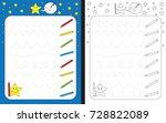 preschool worksheet for... | Shutterstock .eps vector #728822089