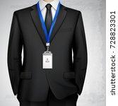 dressed in black suit... | Shutterstock .eps vector #728823301