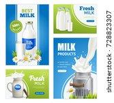 milk product vertical banners... | Shutterstock .eps vector #728823307