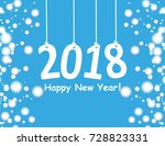 2018 christmas card with a... | Shutterstock .eps vector #728823331