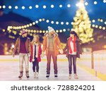 christmas  winter and leisure... | Shutterstock . vector #728824201