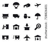 16 vector icon set   delivery ...   Shutterstock .eps vector #728826601