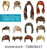 realistic fashionable... | Shutterstock .eps vector #728828617