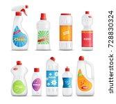 detergent bottles realistic...   Shutterstock .eps vector #728830324