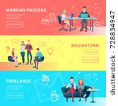 creative team coworking people... | Shutterstock .eps vector #728834947