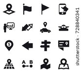 16 vector icon set   pointer ... | Shutterstock .eps vector #728840341