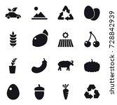 16 vector icon set   eco car ...   Shutterstock .eps vector #728842939