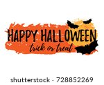 happy halloween greeting card... | Shutterstock .eps vector #728852269