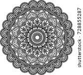 mandala pattern black and white ...   Shutterstock .eps vector #728855287