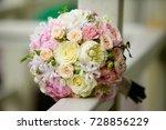 wedding bridal party bouquet... | Shutterstock . vector #728856229