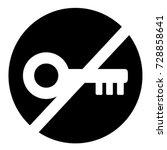 ui glyph circle no access key
