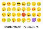 big set of 32 yellow modern... | Shutterstock .eps vector #728860375