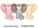 the head of an elephant.... | Shutterstock .eps vector #728862985