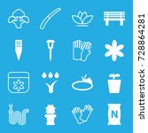 garden icons set. set of 16... | Shutterstock .eps vector #728864281