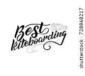 lettering best kite boarding.   Shutterstock .eps vector #728868217