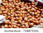 hazelnut on display at borough... | Shutterstock . vector #728875201