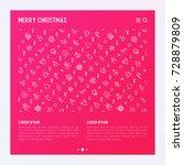 christmas celebration concept... | Shutterstock .eps vector #728879809