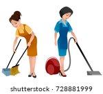 vector illustration of two... | Shutterstock .eps vector #728881999