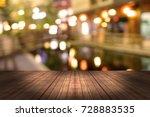 top desk with blur restaurant... | Shutterstock . vector #728883535