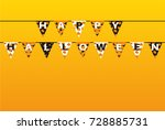 carnival for holiday with flags ... | Shutterstock .eps vector #728885731