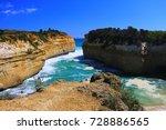 great ocean road beach in...   Shutterstock . vector #728886565