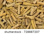 closeup of dried dang shen root ... | Shutterstock . vector #728887207