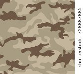 camouflage seamless pattern... | Shutterstock .eps vector #728887885