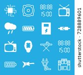 electrical icons set. set of 16 ... | Shutterstock .eps vector #728889601